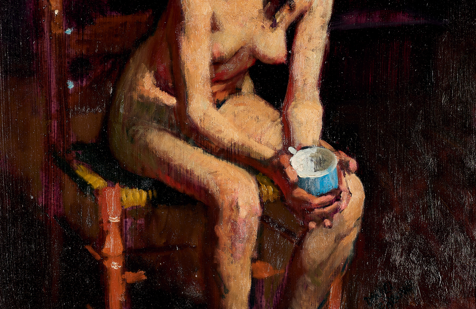Lot 686: Daniel Green, O/B Nude With Blue Cup