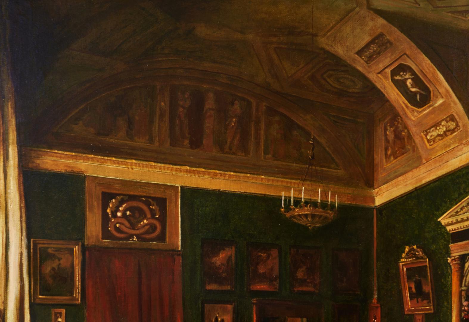 Lot 692: Attr. Vladimir Chudnov O/C, St. Michael's Palace Interior Scene