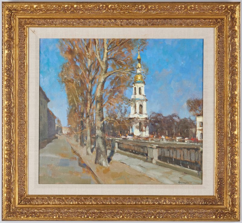 Lot 693: Aleksander Kremer O/C, The Bell Tower