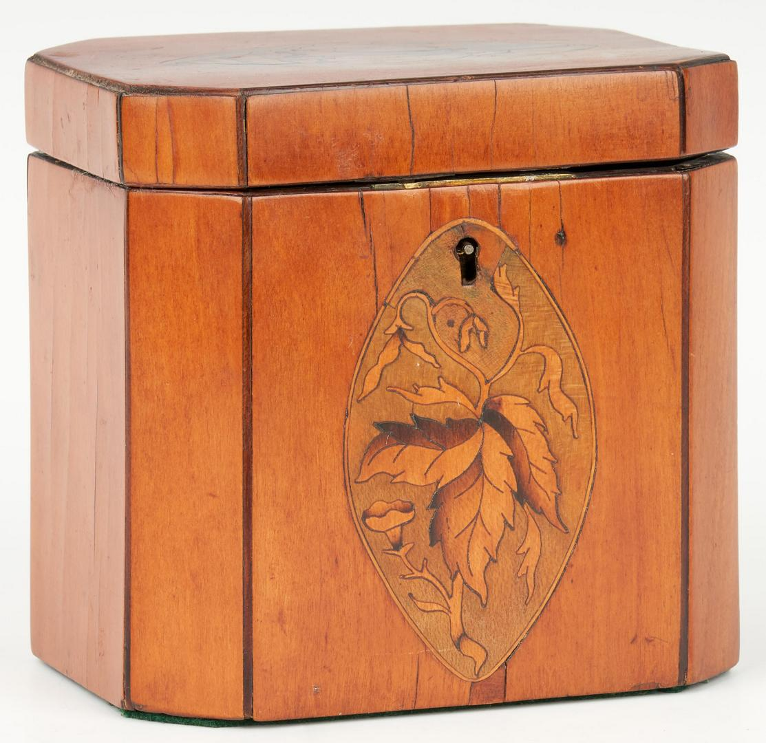 Lot 697: Rosewood Tea Chest plus 3 small boxes