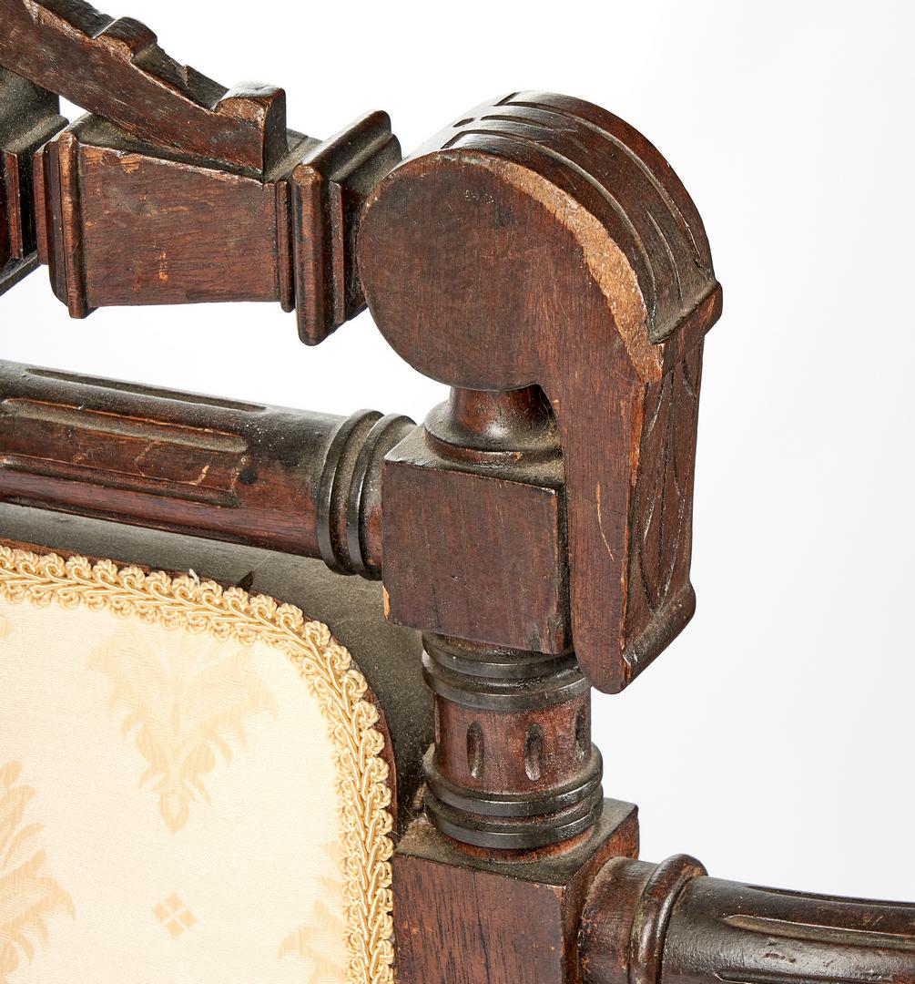 Lot 698: Renaissance Revival Medallion-Back Chair, Hunzinger Attrib.