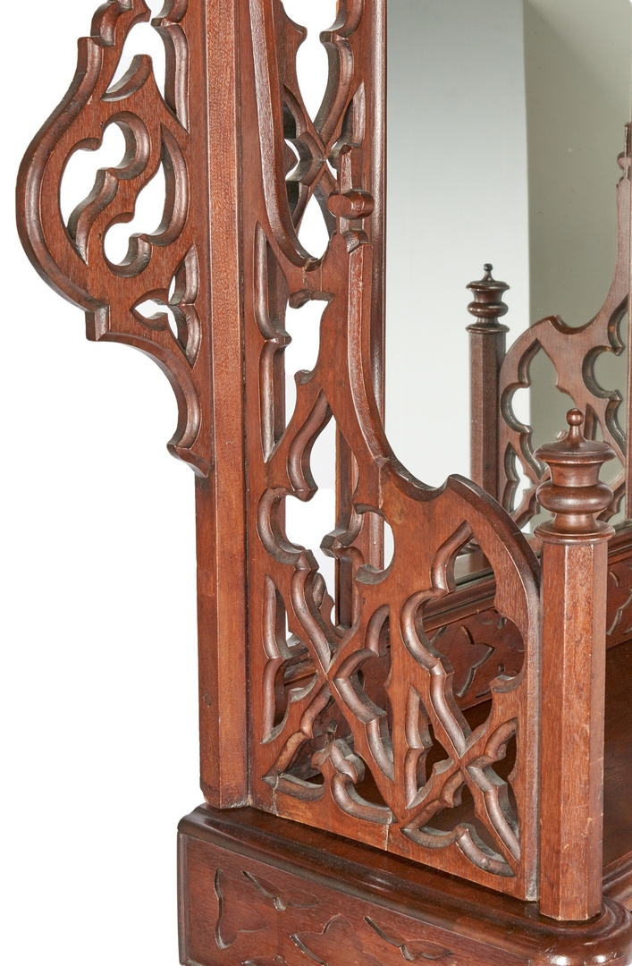 Lot 699: Gothic Walnut Hall Tree, MS History