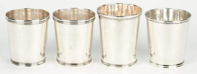 Lot 69: 4 Mint Julep Cups inc. Kinsey, Baldwin