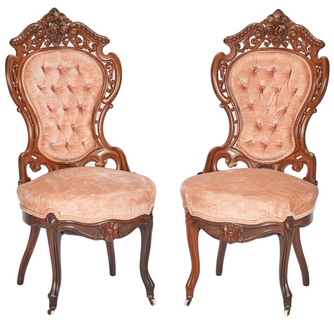 Lot 700: Meeks Sofa and Side Chairs, Hawkins and Stanton Hall