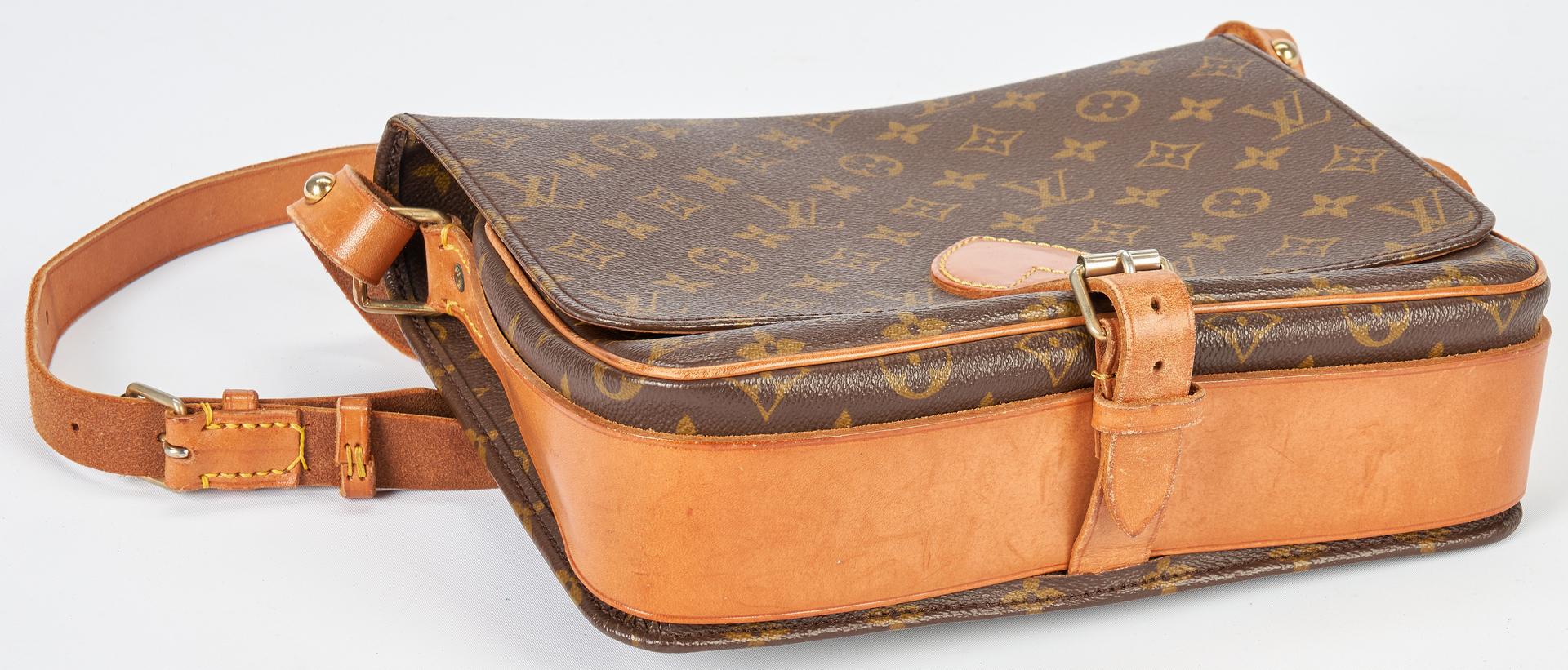 Lot 706: Louis Vuitton Monogram Canvas Cartouchiere GM Shoulder Bag