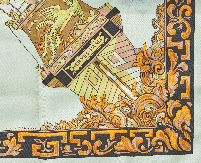 Lot 707: 3 Hermes Scarves, incl. Splendeur des Maharajas II & Cheval Fleuri