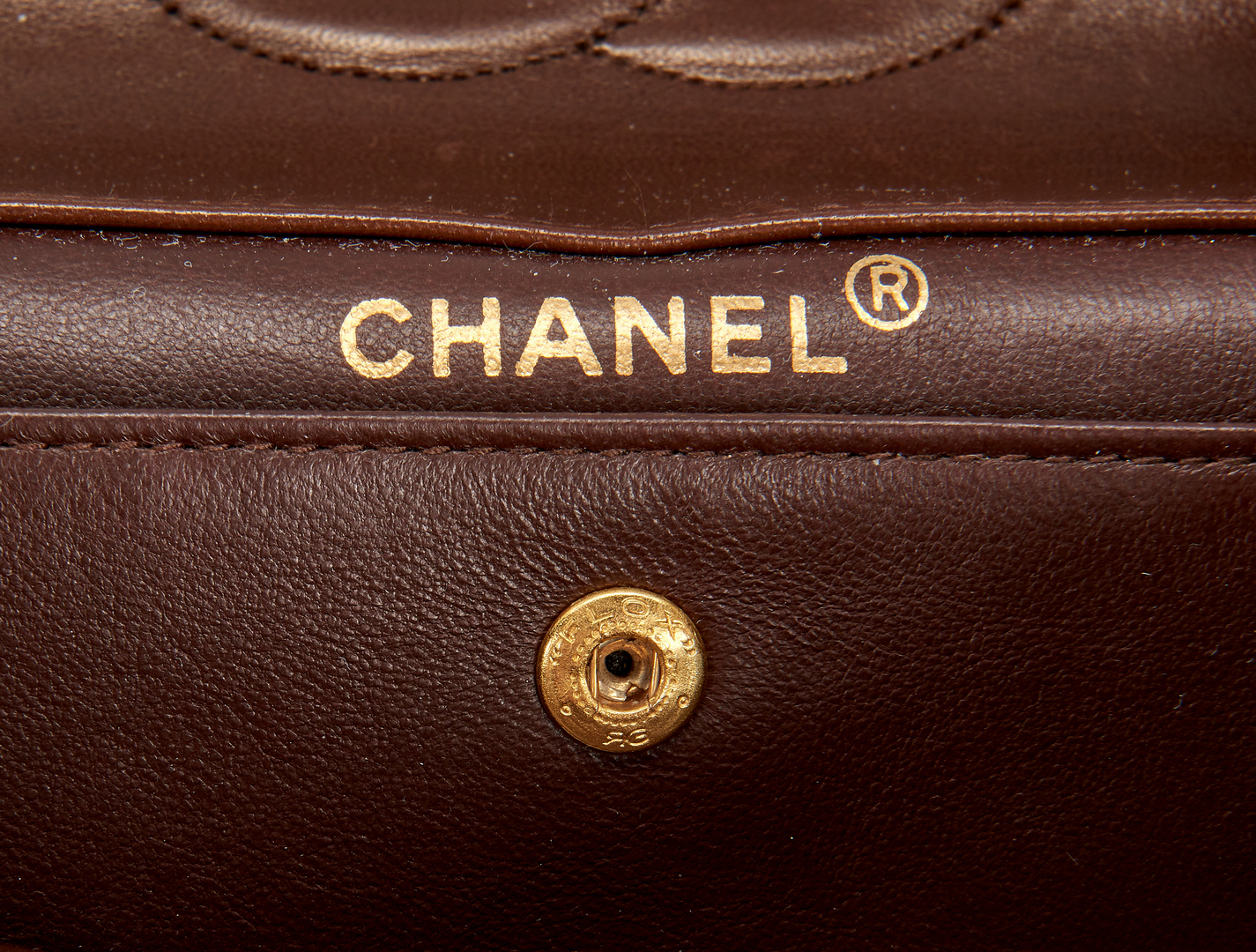 Lot 710: Chanel Classic Single Flap Brown Quilted Purse, Small