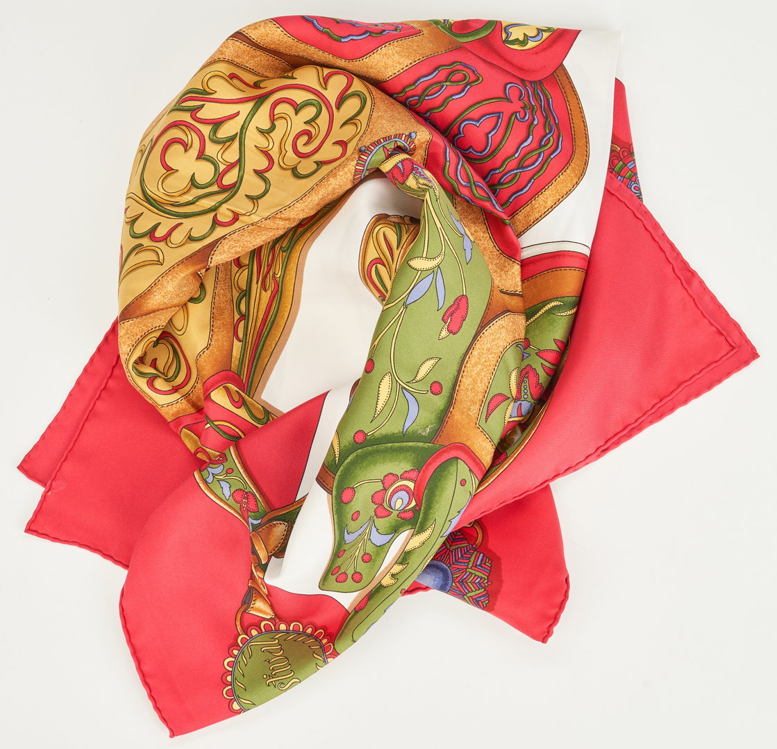 Lot 712: 6 Hermes and Chanel Designer Scarves