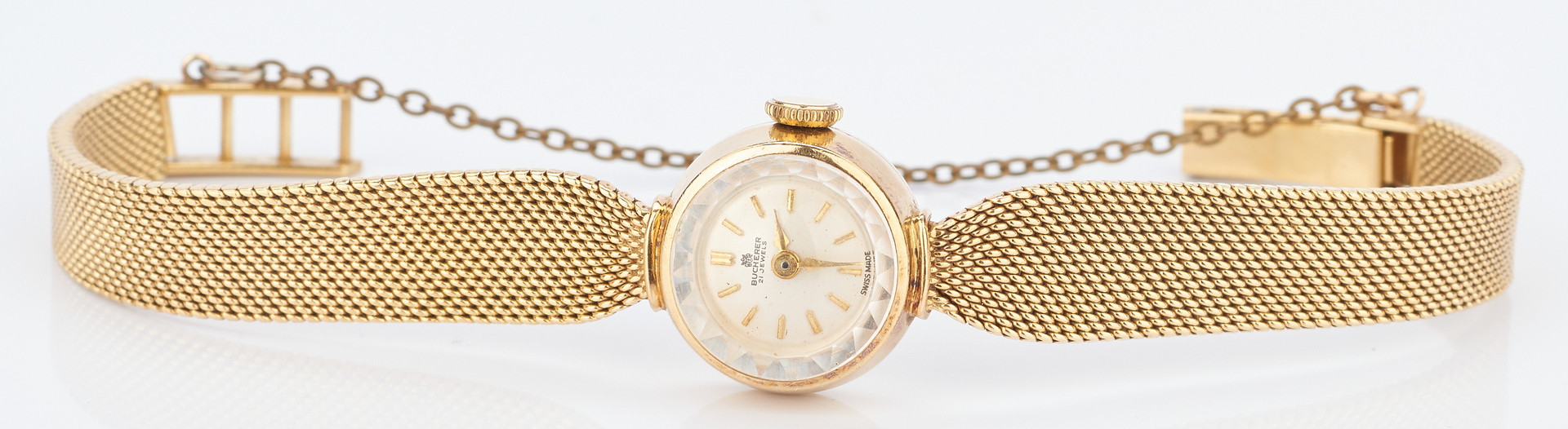 Lot 717: Ladies 18K Bucherer 21 Jewel Wrist Watch