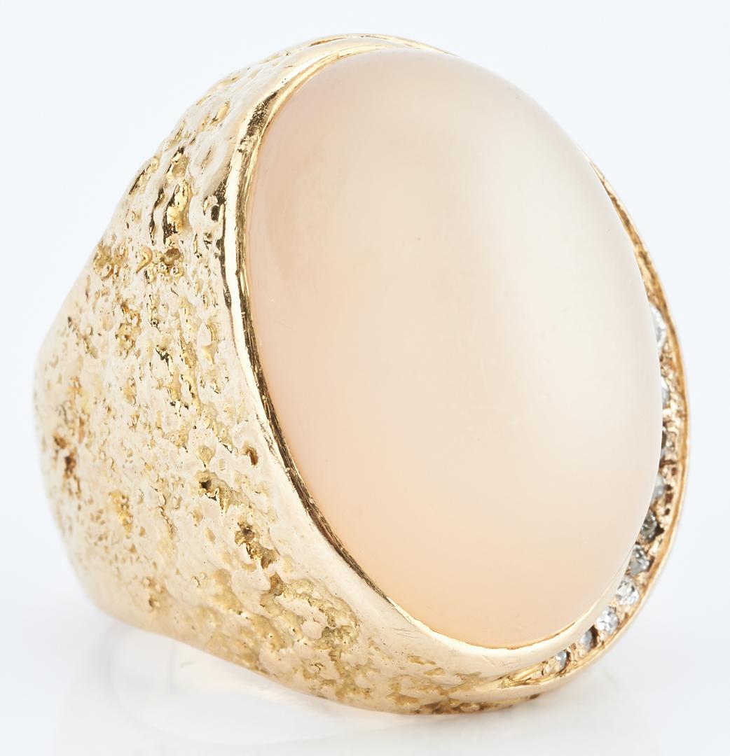 Lot 725: Karl Stittgen 18K Moonstone, Dia Ring
