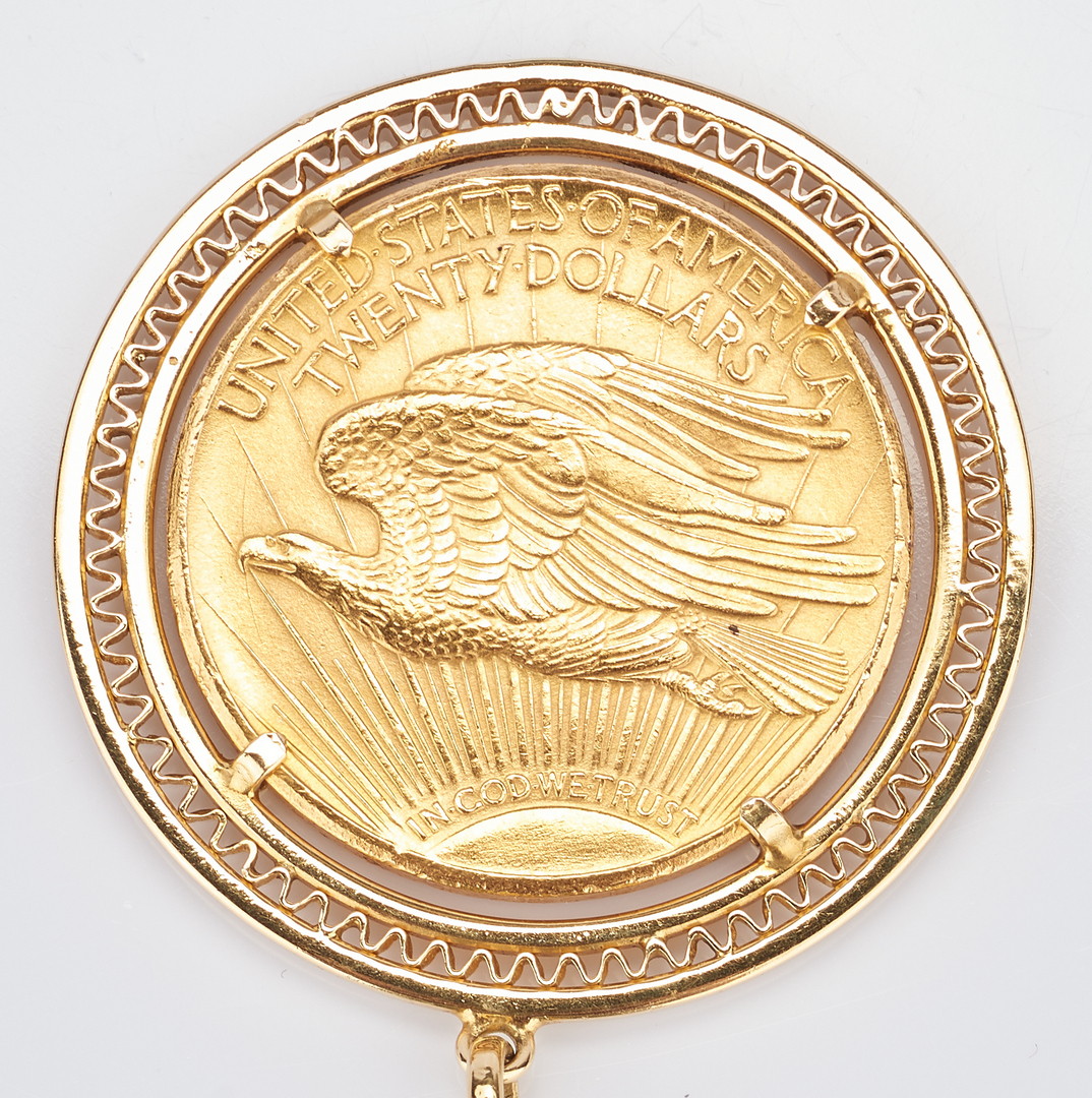 Lot 730: 1925 $20 Saint-Gaudens Gold Coin, Mounted