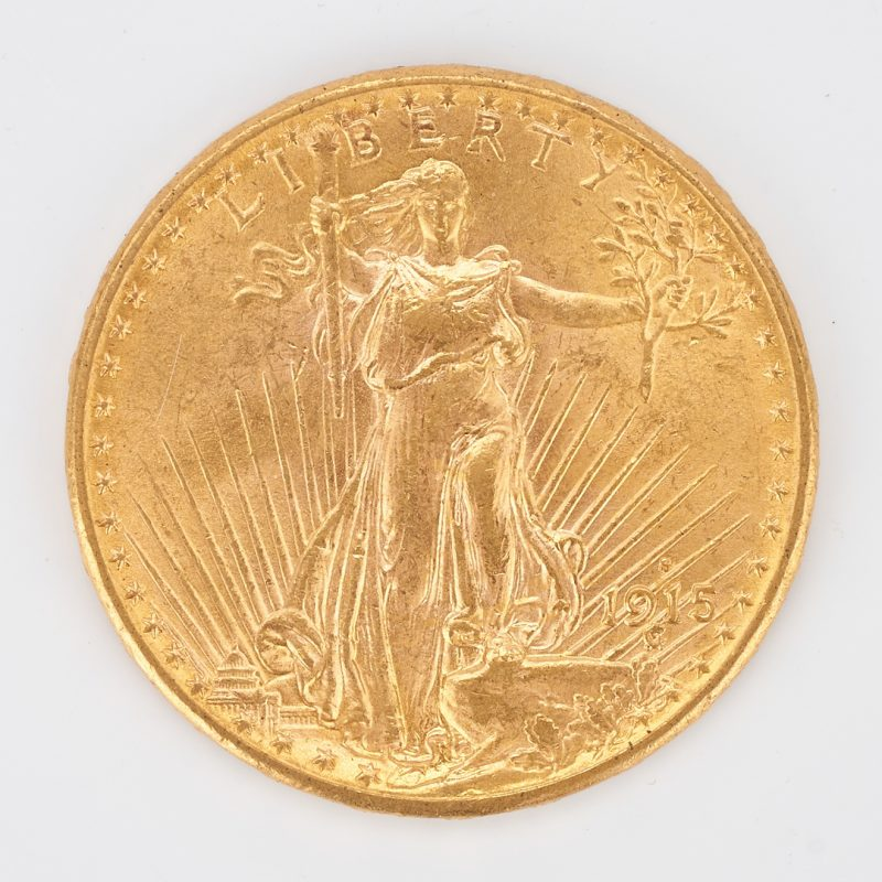 Lot 733: 1915 $20 Saint-Gaudens Gold Coin