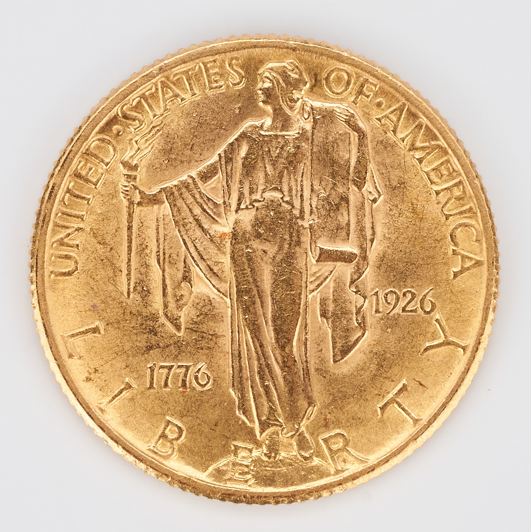 Lot 736: 1926 $2.50 U.S. Sesquicentennial Gold Coin, Philadelphia Mint