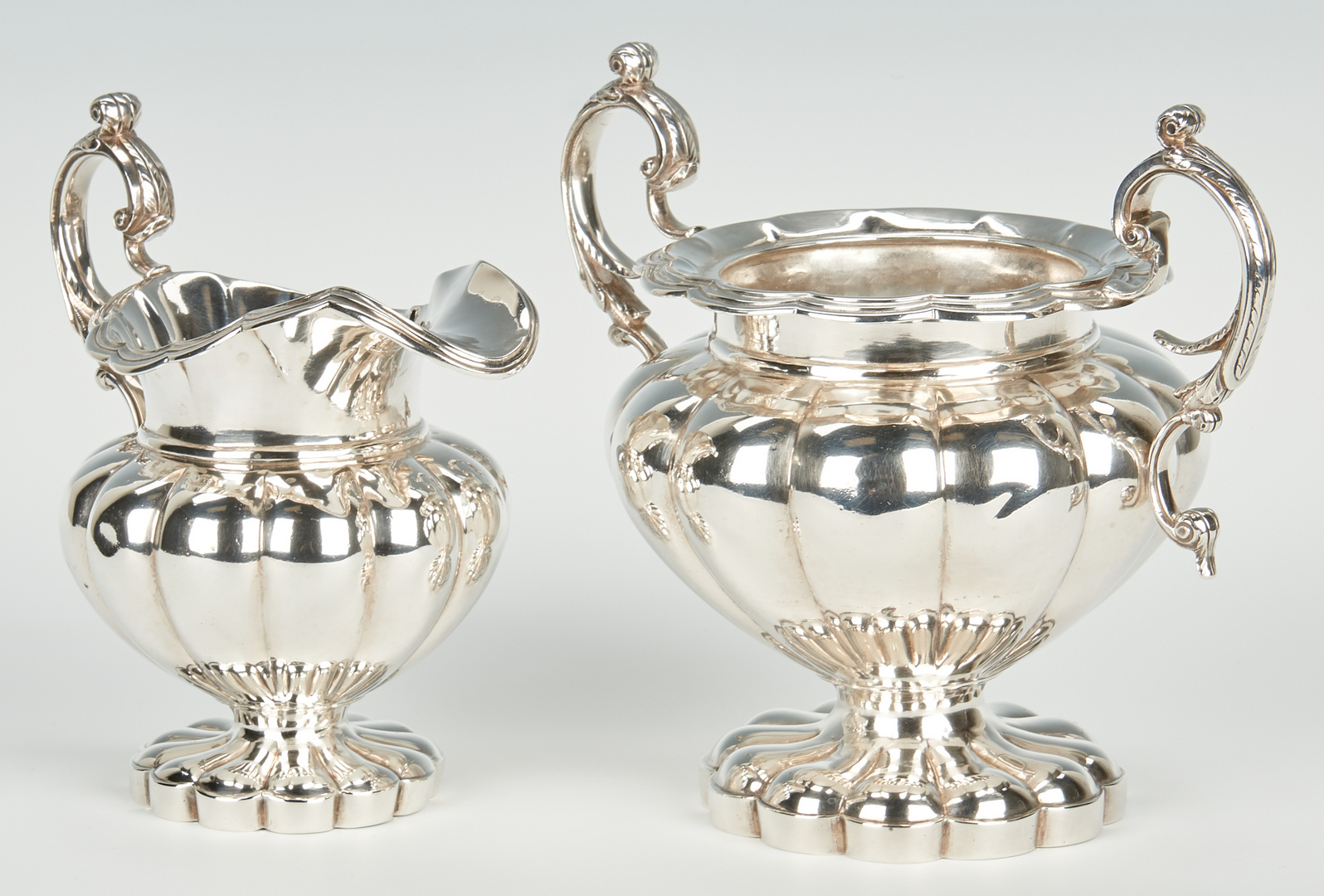 Lot 73: Brower Bros. New Orleans Silver Sugar & Creamer