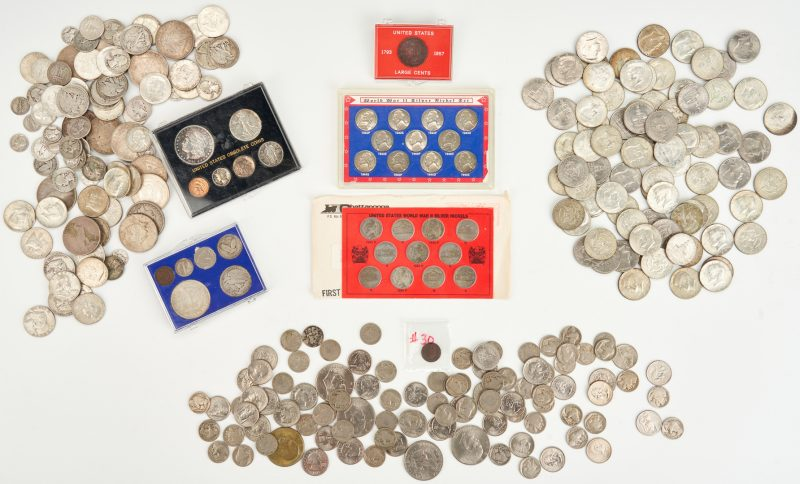 Lot 740: 184 U.S. 90% and 40% Silver Coins & More