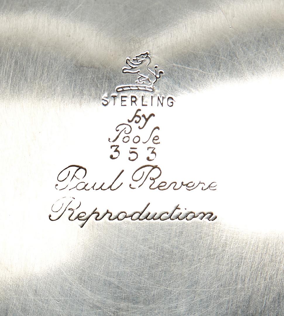 Lot 749: 3 Sterling Revere Bowls/ Manchester, Poole & Spaulding