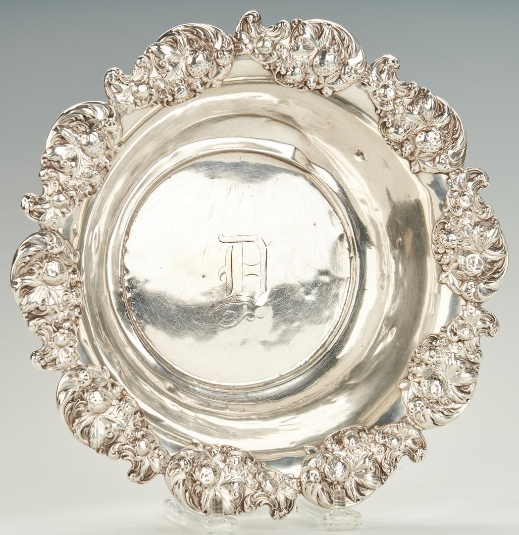 Lot 751: 3 Art Nouveau Sterling Bowls inc. Strawberry Border