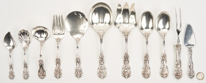 Lot 752: 11 Pcs Francis I Sterling Flatware Servers