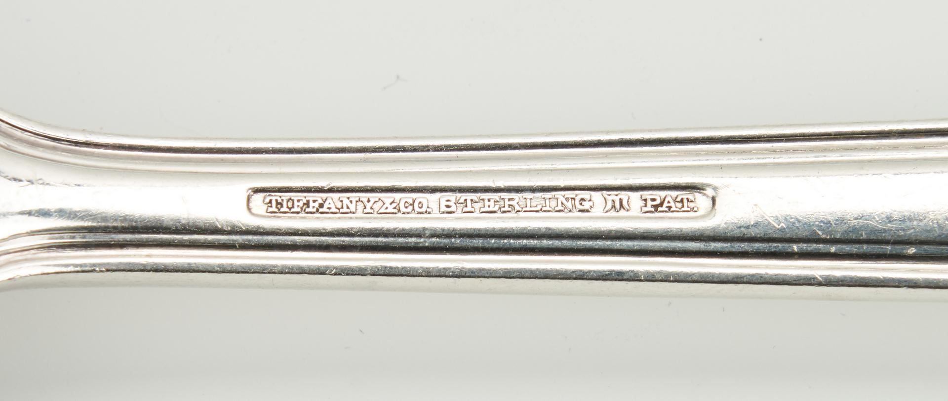 Lot 754: 18 pcs. flatware incl. Tiffany, Shiebler, Les Cinq Fleurs