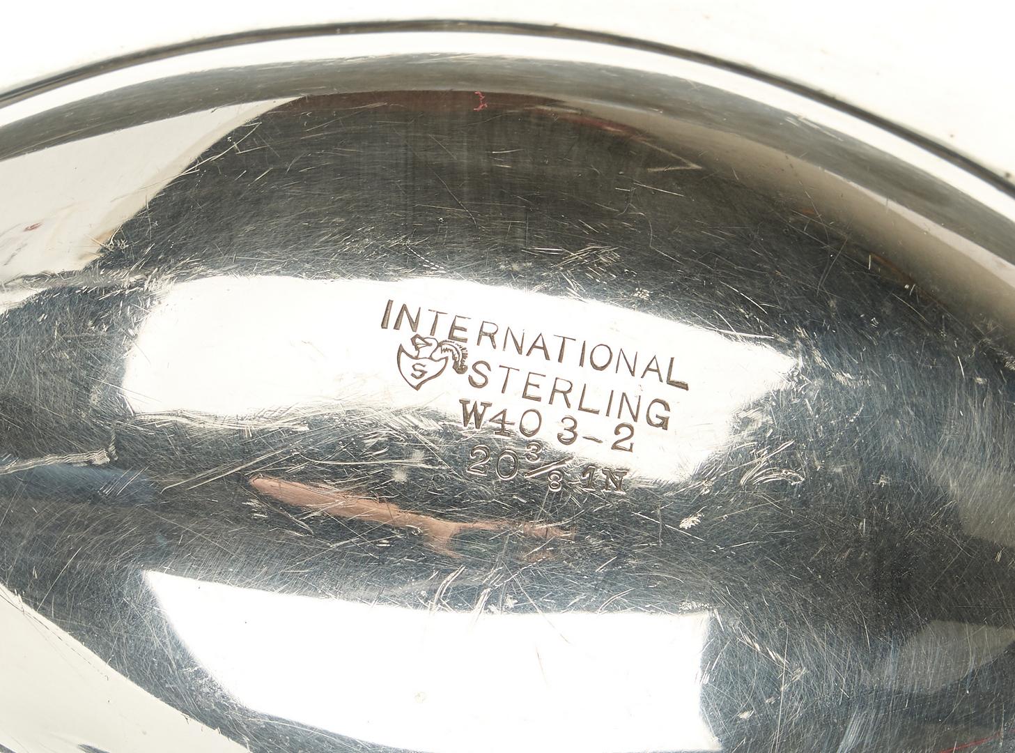 Lot 756: International Sterling Silver Meat Platter