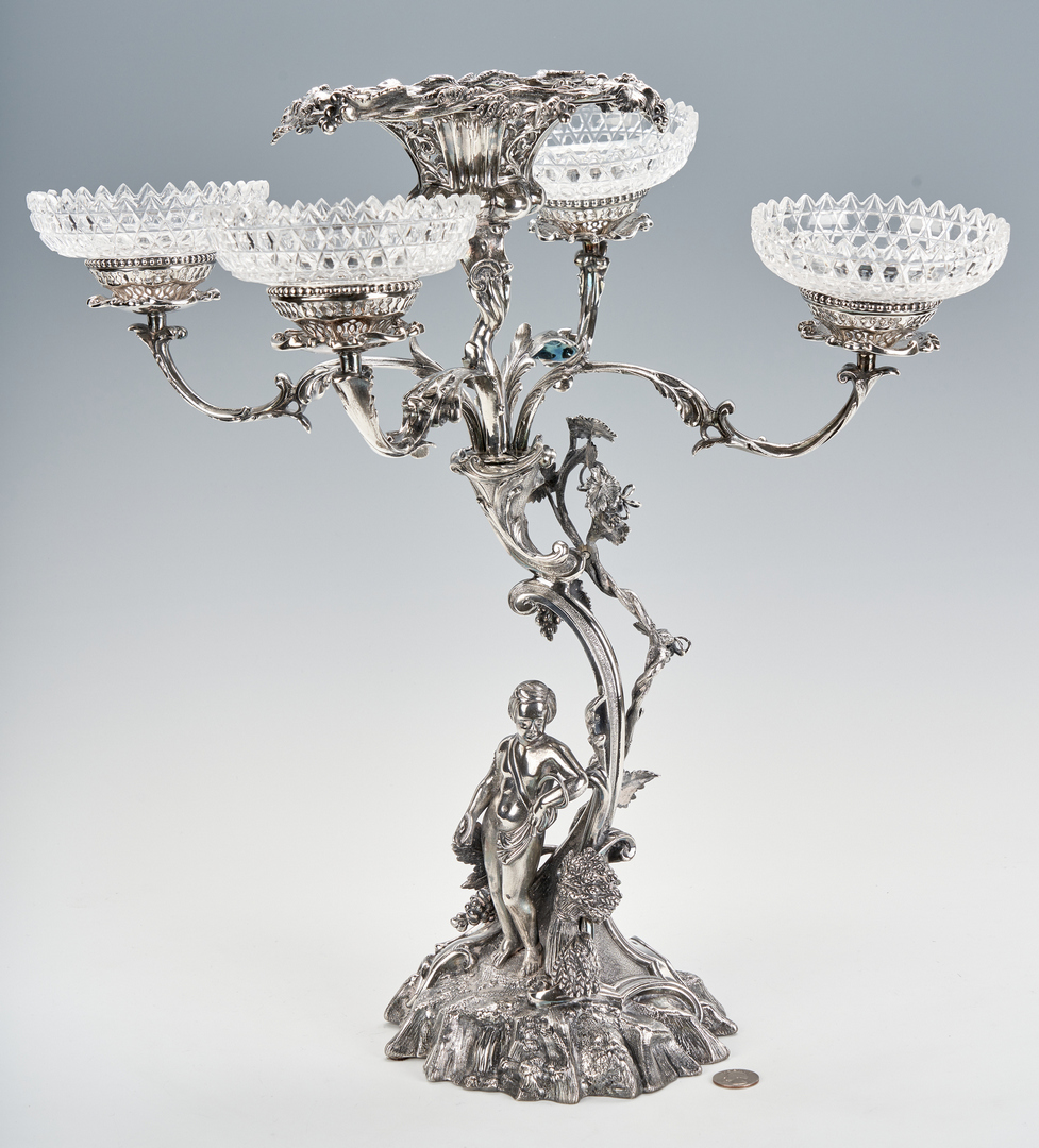 Lot 757: Victorian Figural Epergne
