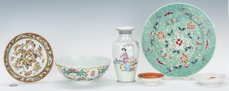 Lot 759: 6 pcs. Chinese Porcelain Including Republican Vase