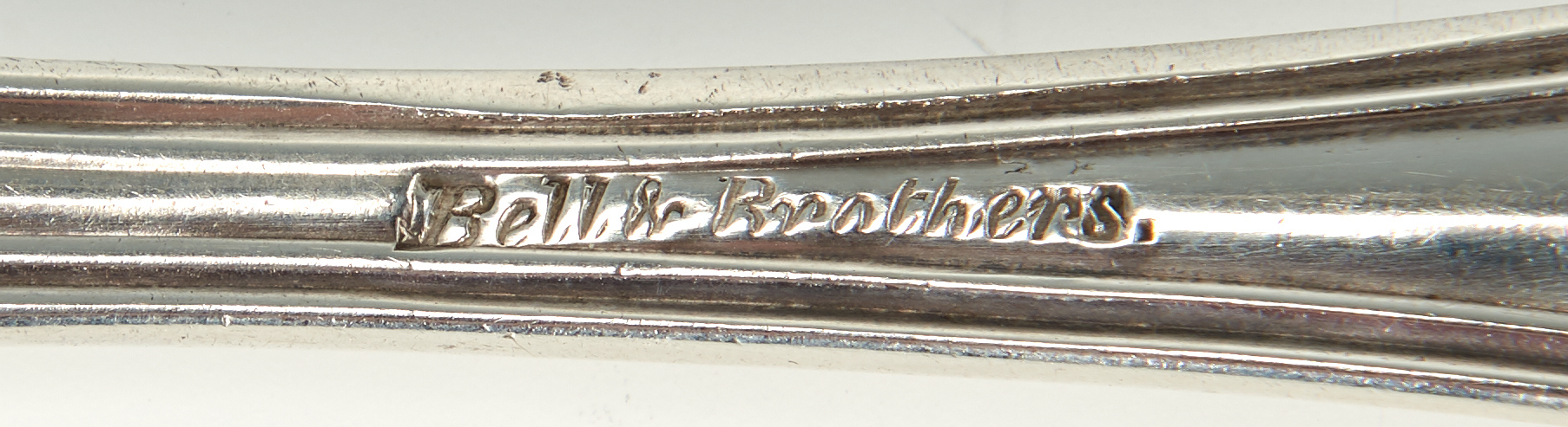 Lot 75: Two Coin Silver Forks, Bell & Bros. TX