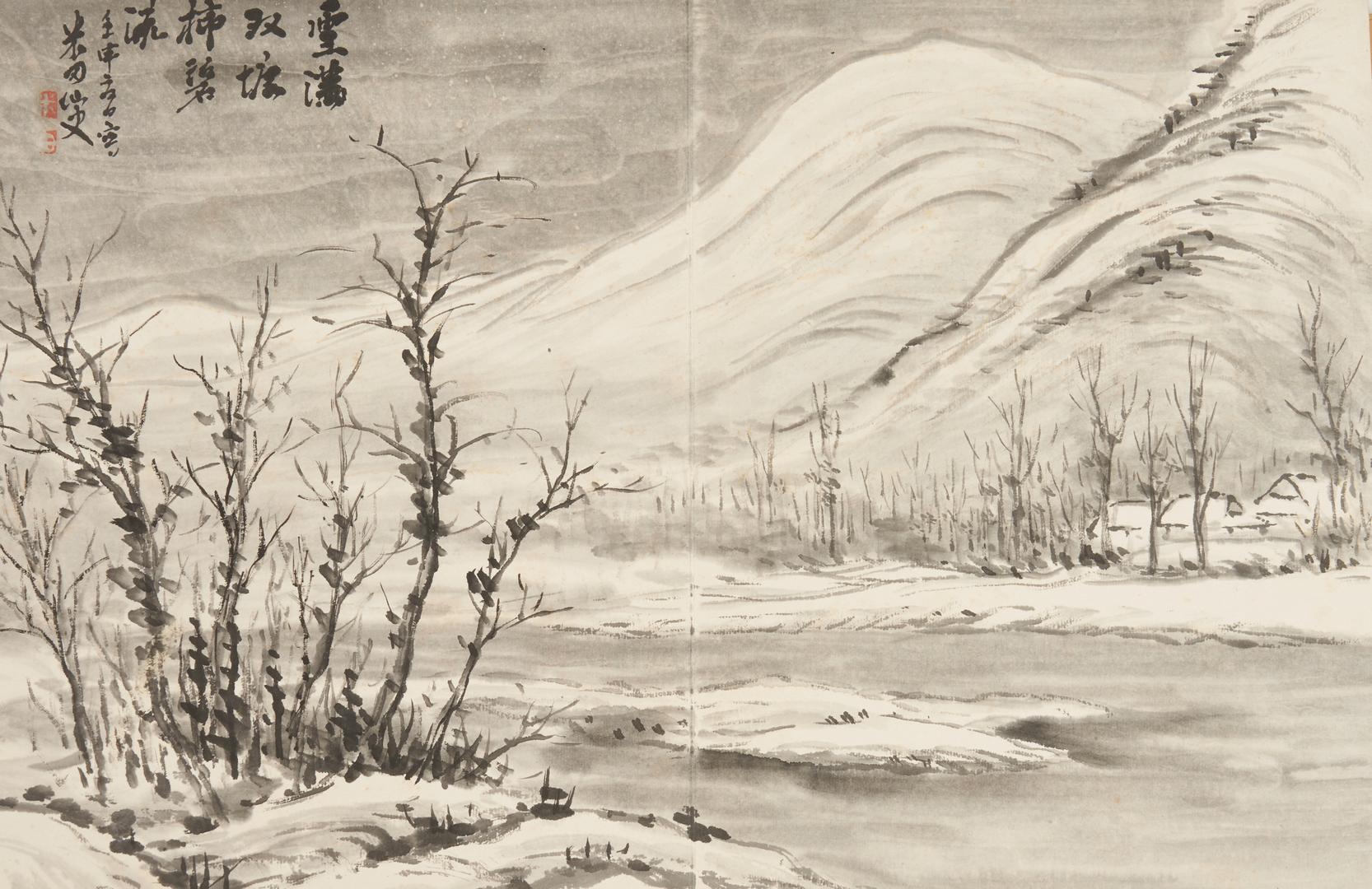 Lot 762: Japanese Watercolor Book plus Scroll