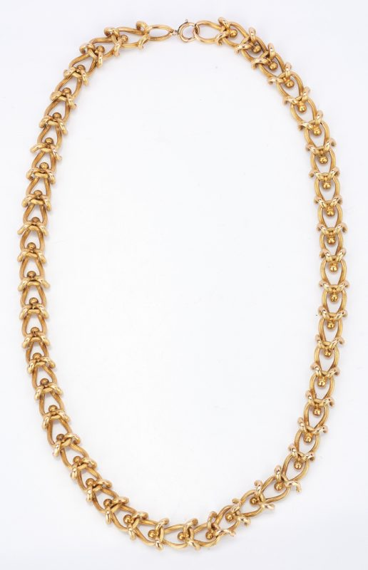 Lot 765: 14K Yellow Gold Link Necklace