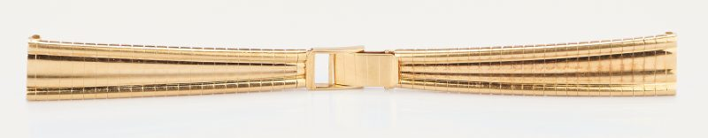 Lot 769: Ladies 18K Yellow Gold Watch Band