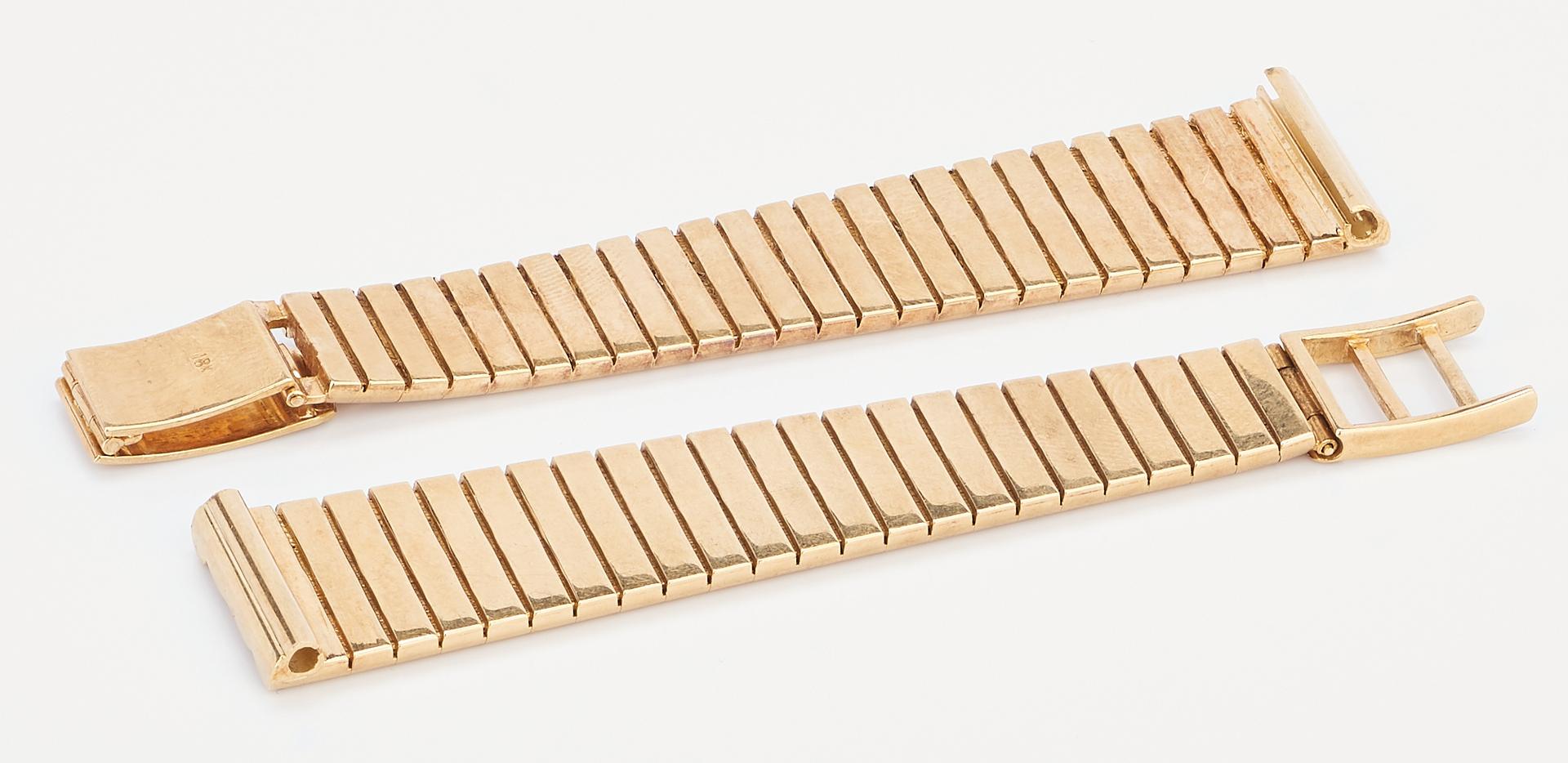 Lot 769: Ladies 18K Yellow Gold Watch Band