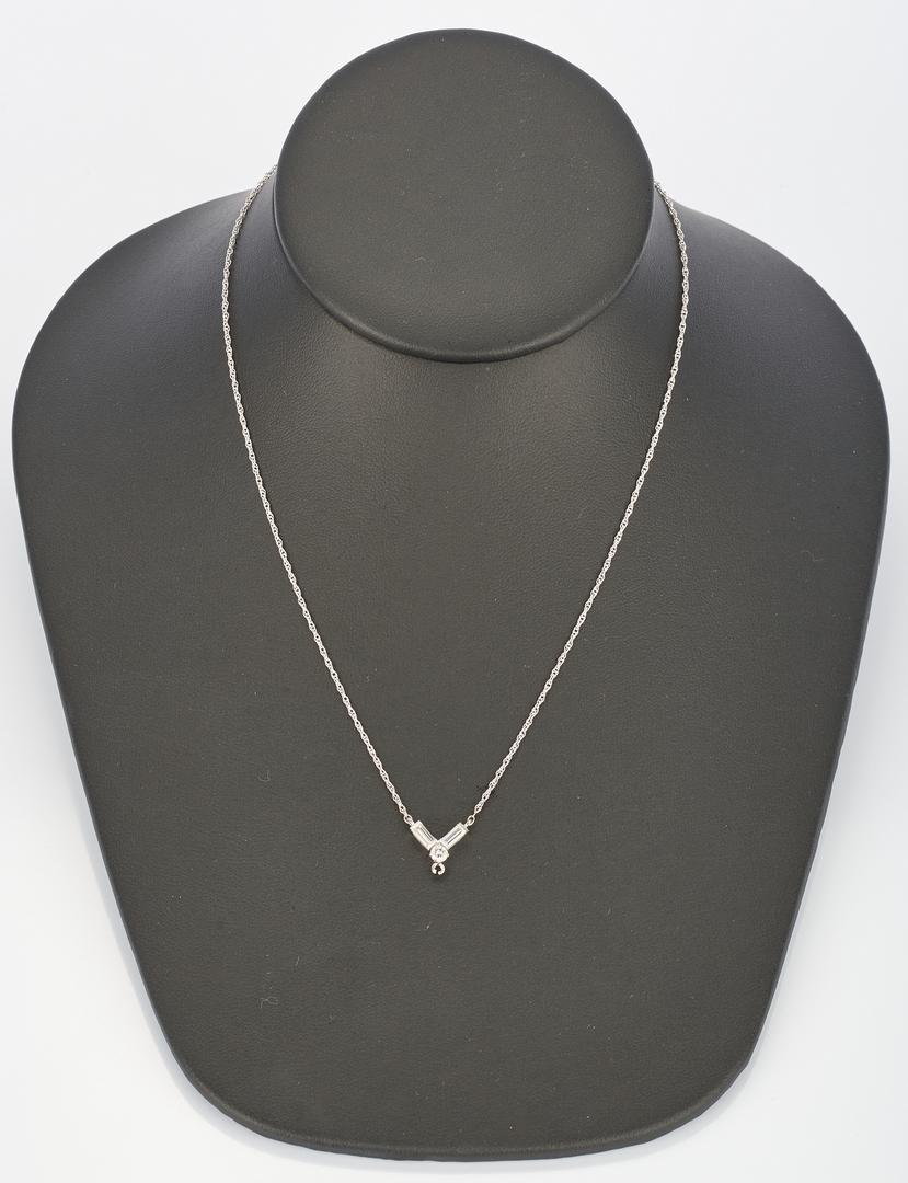 Lot 770: 4 Diamond and 14K & 2 Diamond & Platinum Jewelry Items, 6 total