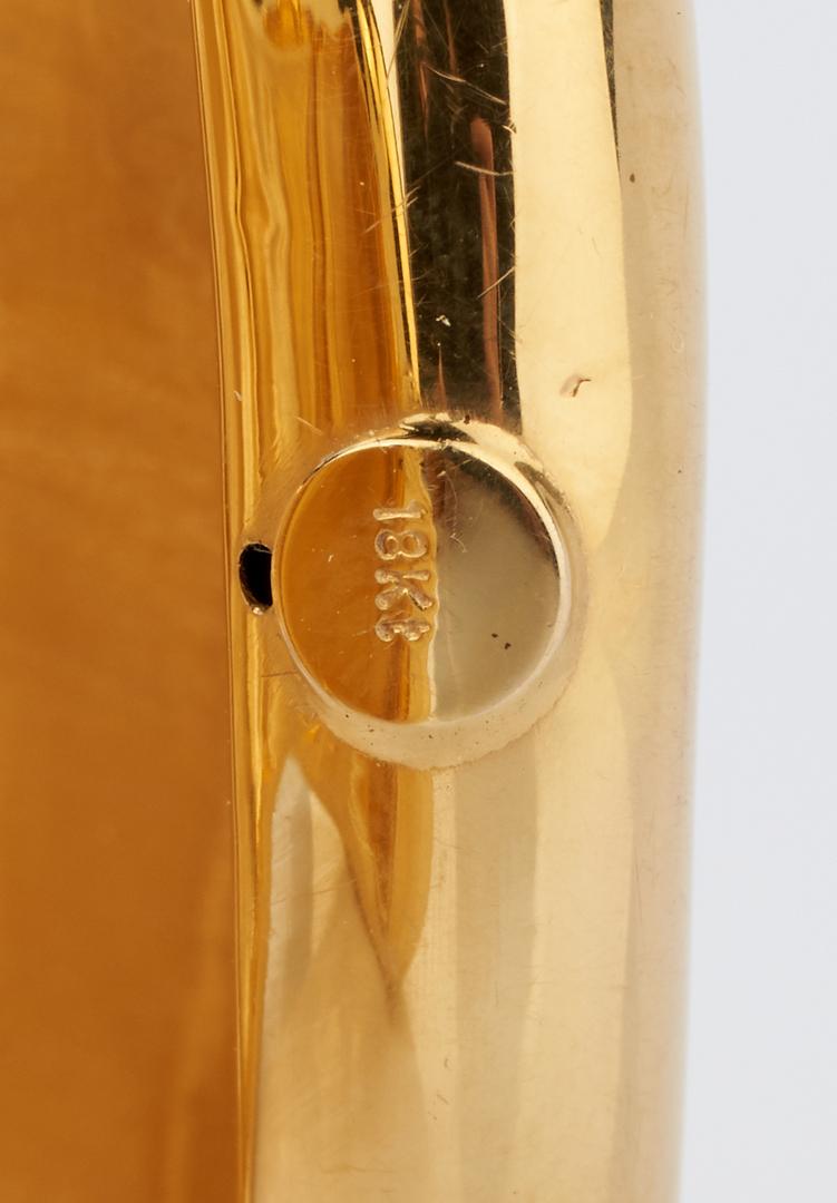 Lot 784: 18K Modern Freeform Gold Cuff Bracelet