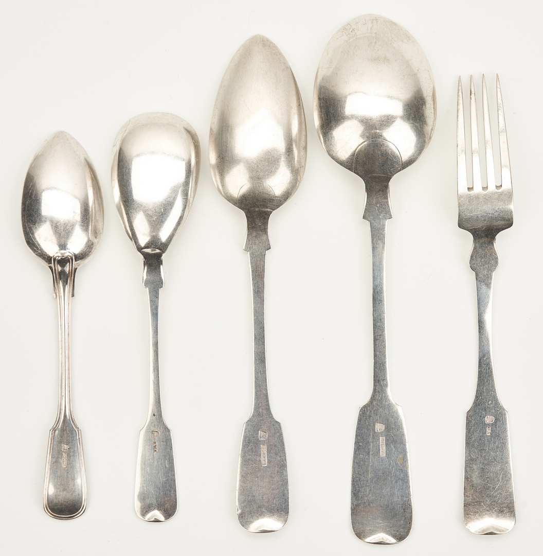 Lot 788: 15 Continental Silver Forks and Spoons