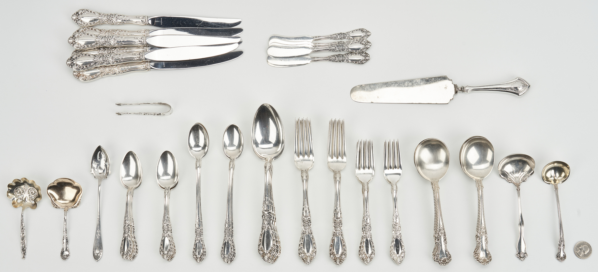 Lot 793: 53 Pcs. Sterling Silver, incl. Alvin Prince Eugene