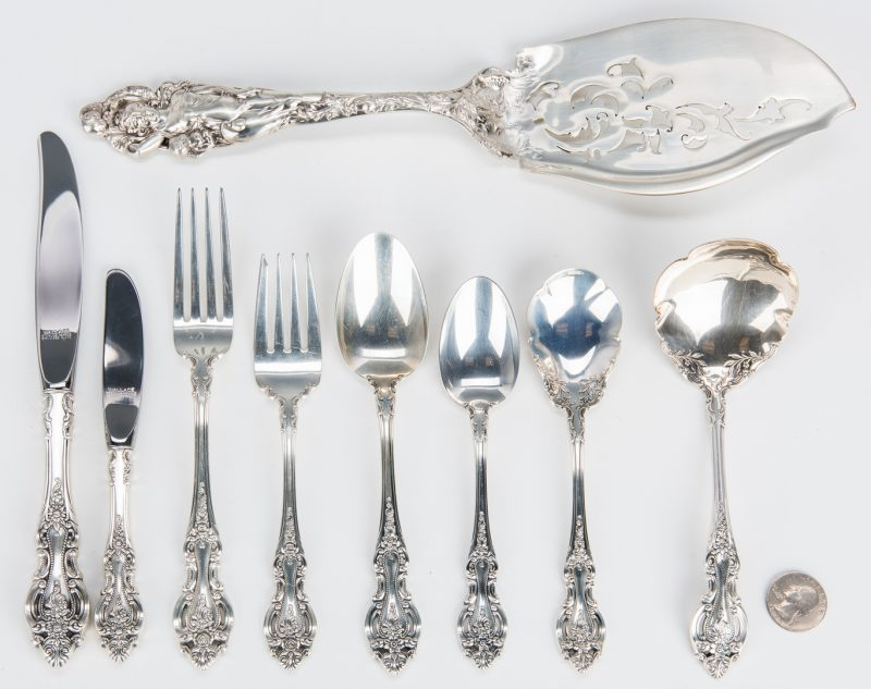Lot 795: 39 Pcs. Sterling Silver, incl. Wallace, Reed & Barton