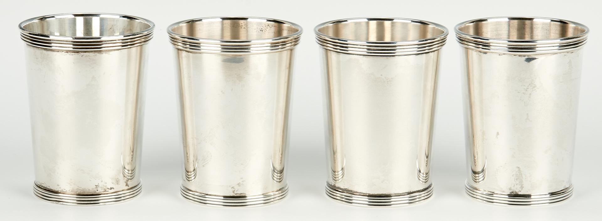 Lot 796: 9 International Silver Mint Julep Cups