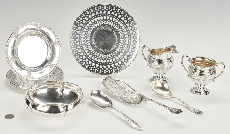 Lot 798: 11 Sterling Items, incl. Wallace Rose Point