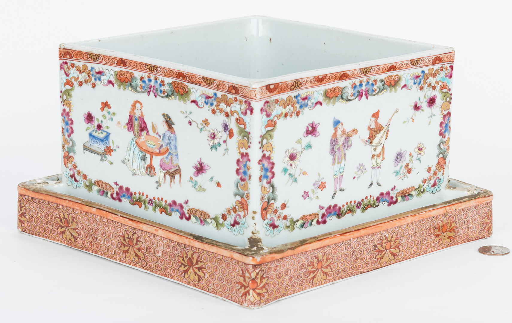 Lot 7: Chinese Export Famille Rose Porcelain Planter