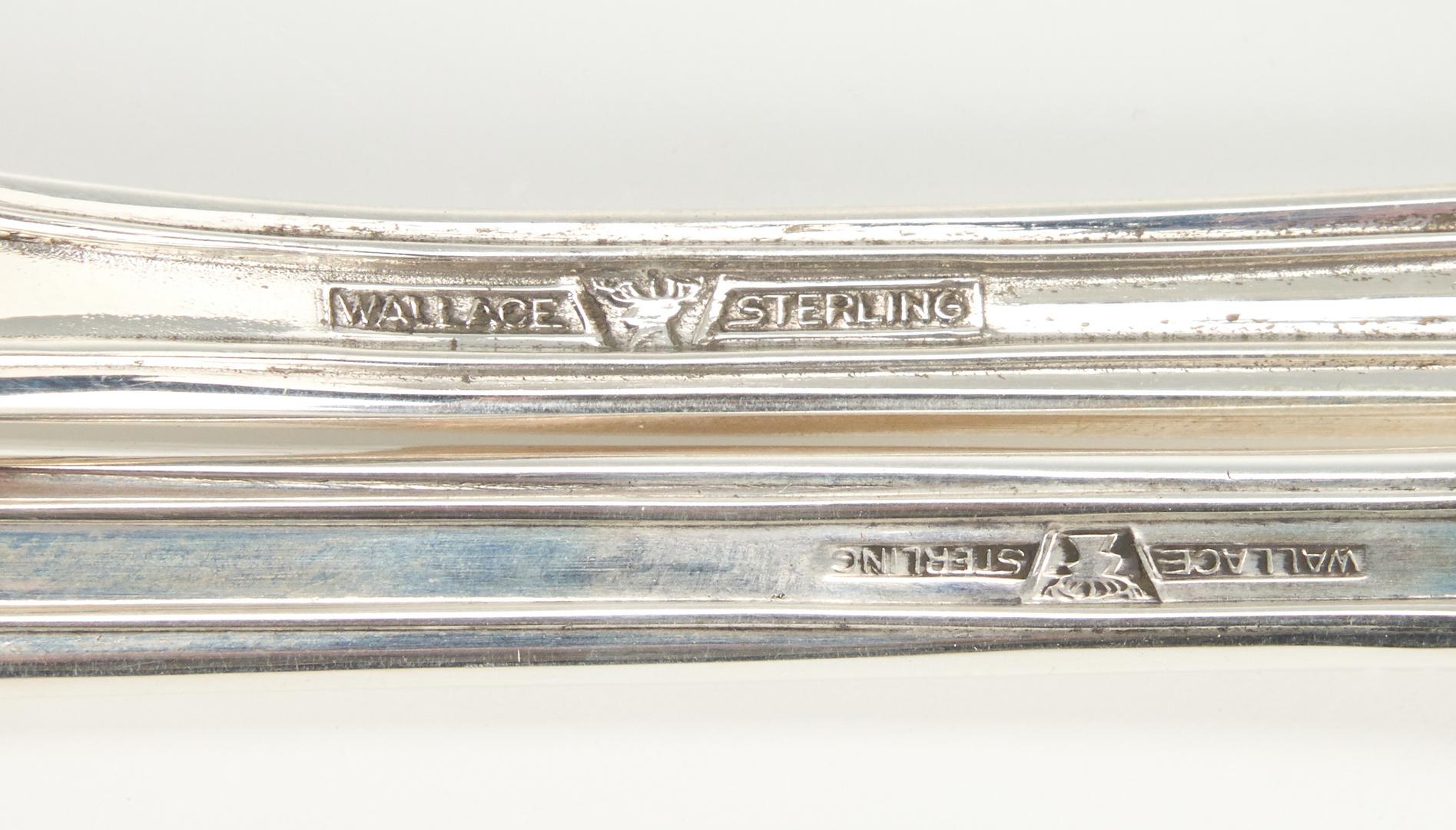 Lot 801: 52 Pcs. Wallace Rose Sterling Silver Flatware