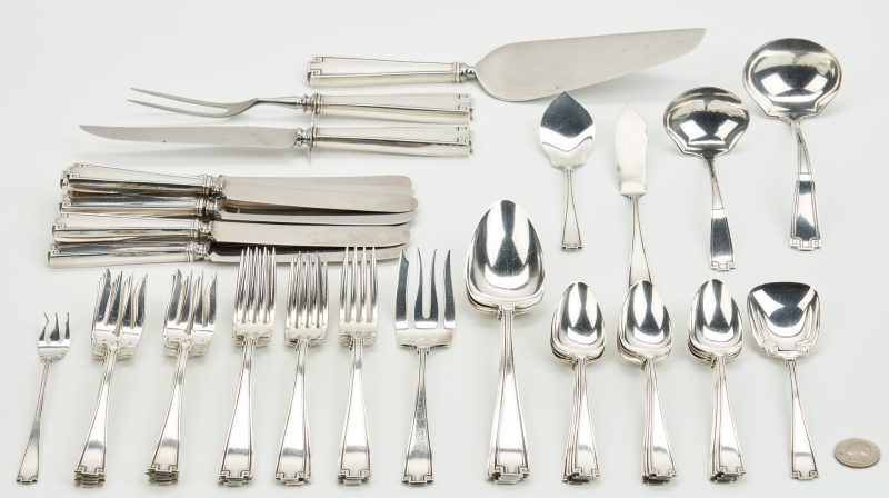 Lot 802: 49 Pcs Gorham Etruscan Sterling Flatware