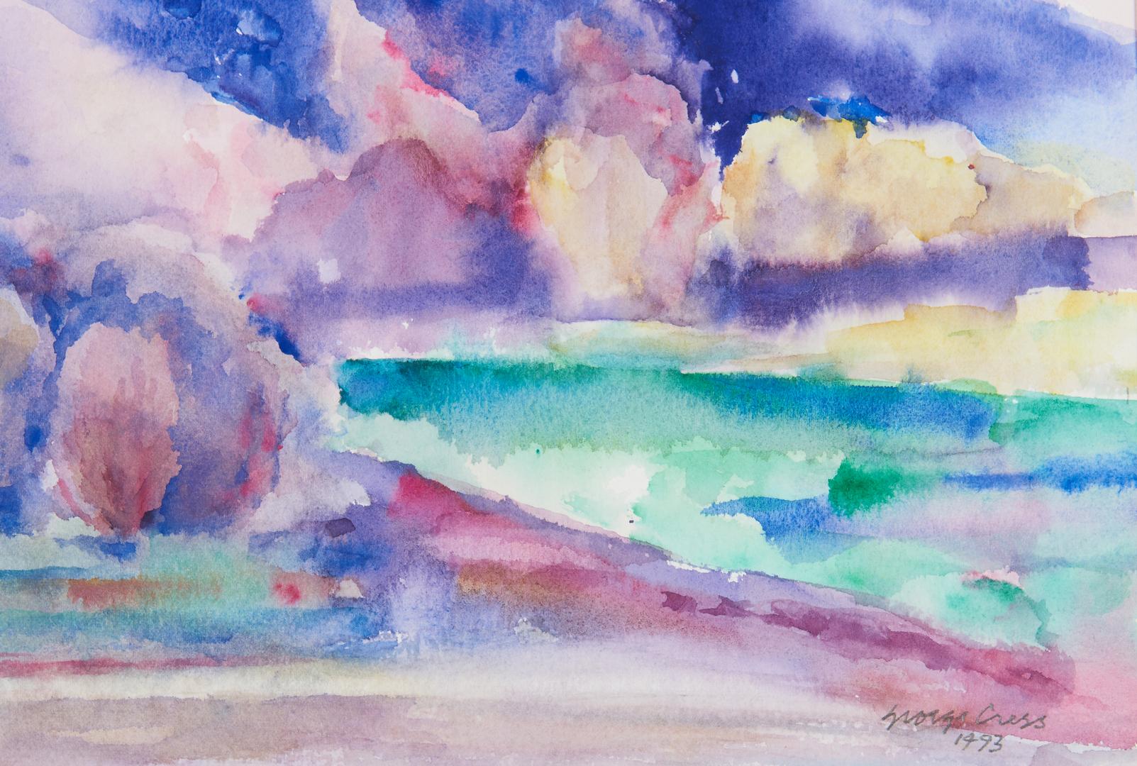 Lot 808: George Cress Watercolor, Rabun Cove, GA