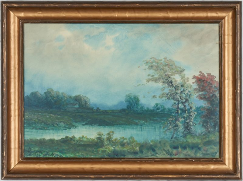 Lot 810: Robert Burns Wilson KY Landscape Watercolor