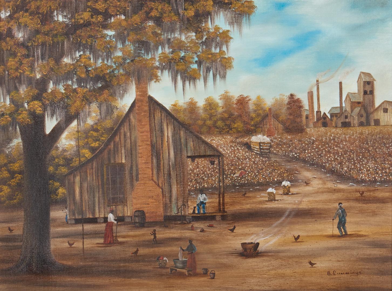 Lot 814: Folk Art O/B Southern Landscape by Beth Cummings