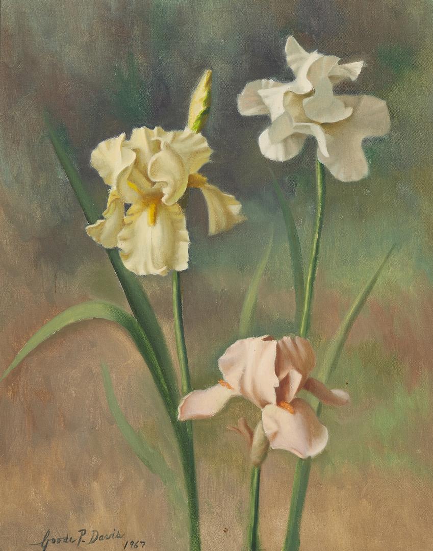 Lot 818: Goode Davis O/C TN Iris Painting