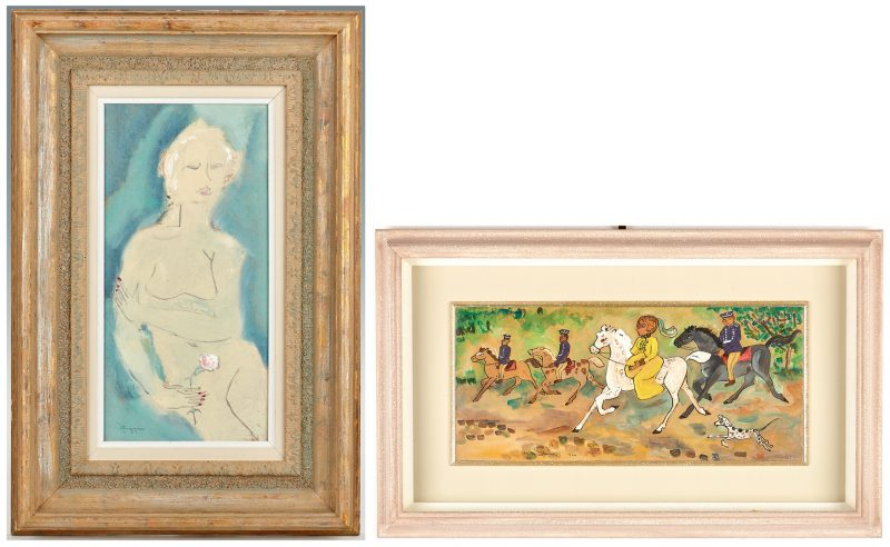 Lot 822: Sterling Strauser, Nude and Dorothy Strauser Oil