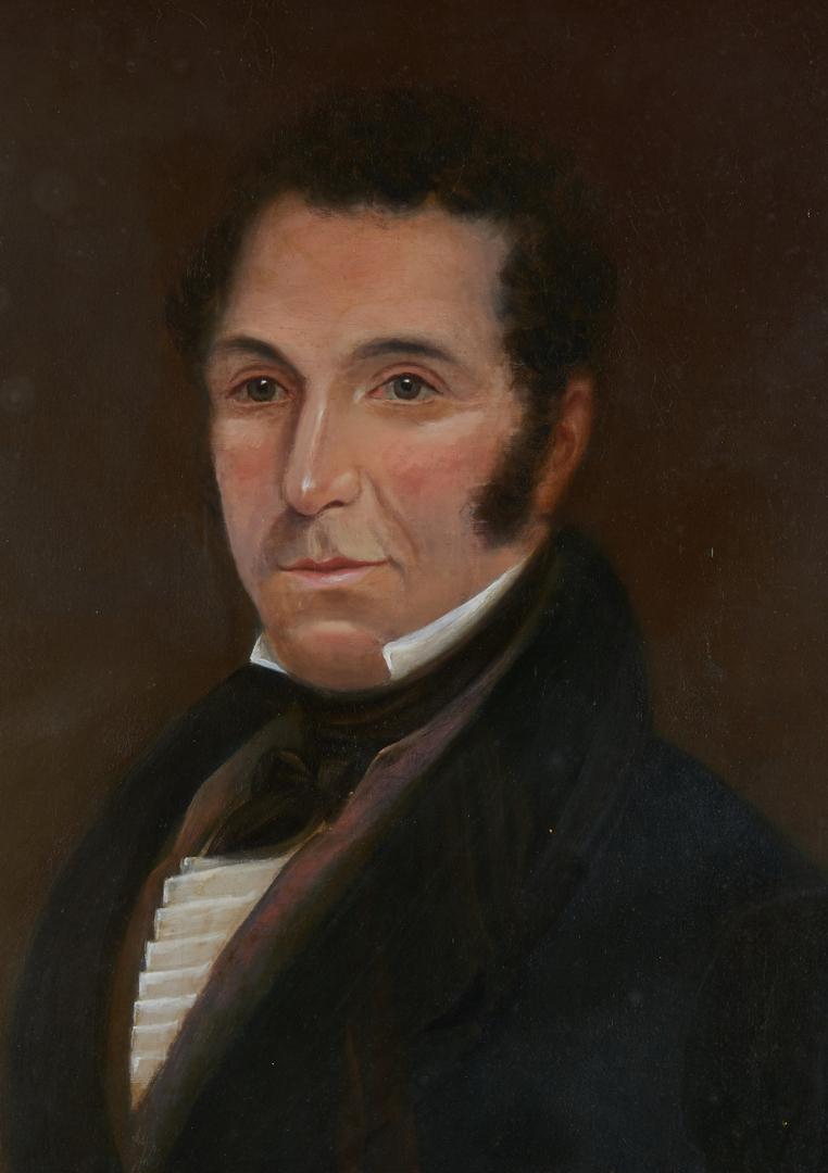 Lot 828: 19th Century Portrait of a Man, poss. Scottish