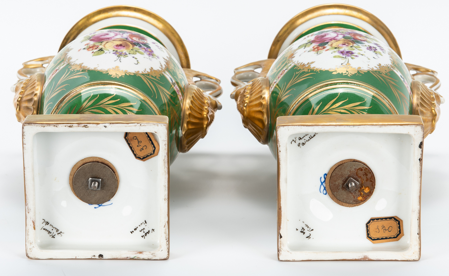 Lot 843: Pair of French Porcelain Urns