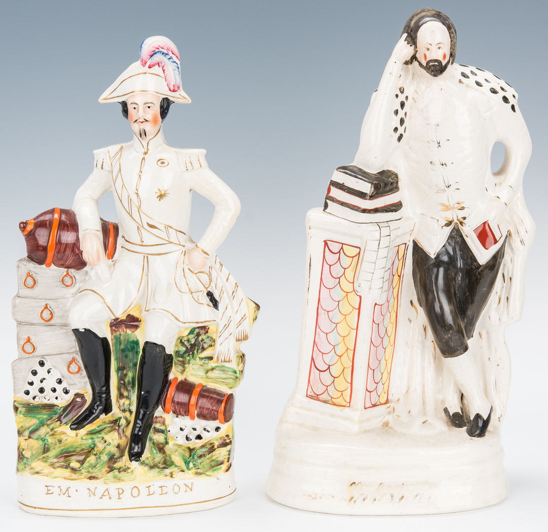 Lot 845: 7 Staffordshire Figures