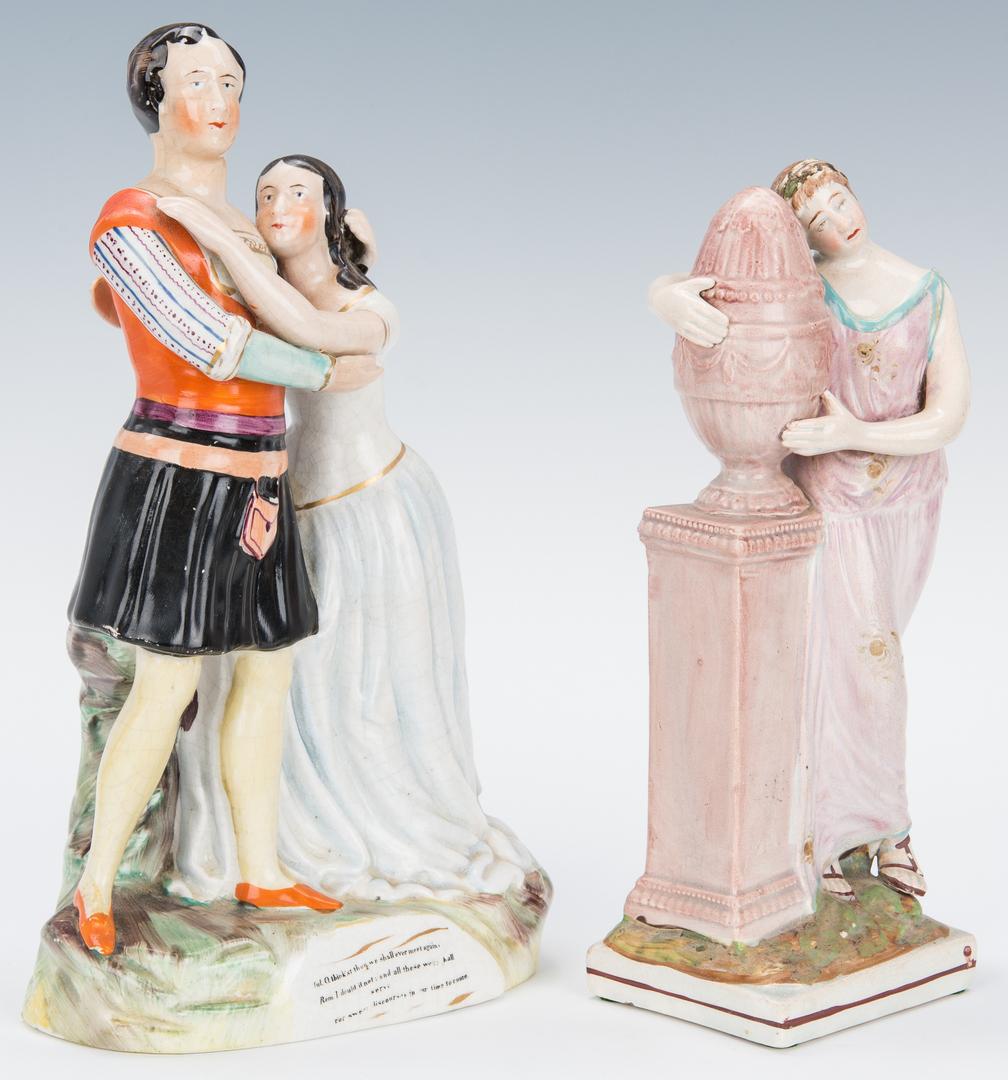 Lot 845: 7 Staffordshire Figures